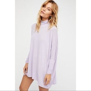 """FREE PEOPLE """"We The Free Lavender Terry Tunic"""""""